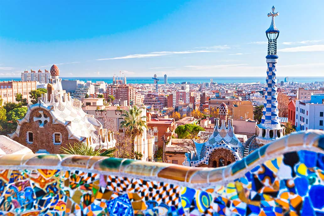 colourful barcelona